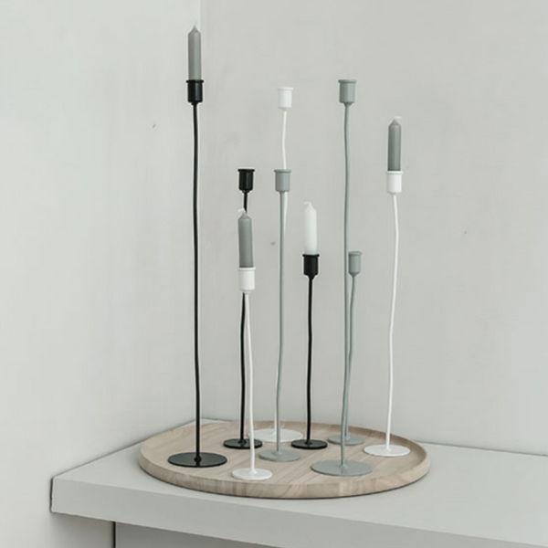 CANDLESTICK - ROUND - 3 sizes