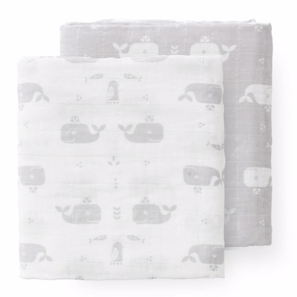 Fresk Baby Swaddle - Set of 2  (47.2 x 47.2 inches)