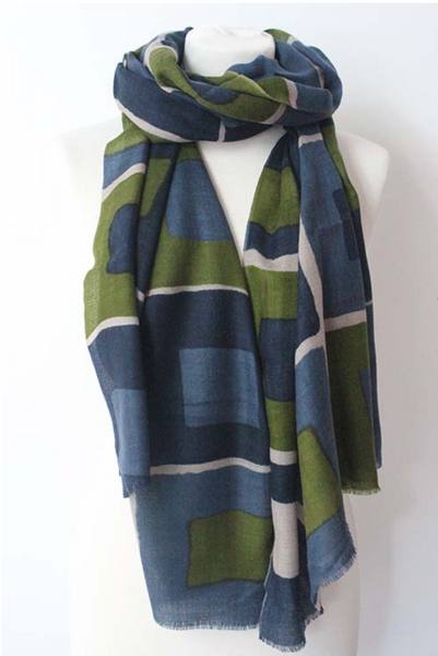 100% CASHMERE SCARF - CUBE