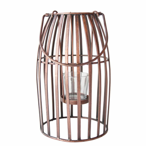 Size small hurricane copper lantern from Urban Nature Culture