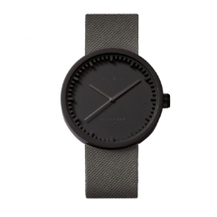 Black and grey Tube Watch D Series by Leff Amsterdam.