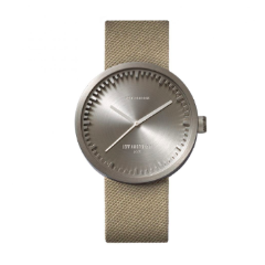 Steel and sand Tube Watch D Series by Leff Amsterdam.