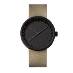 Blank and sand Tube Watch D Series by Leff Amsterdam.