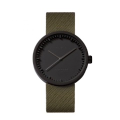 Black and green Tube Watch D Series by Leff Amsterdam.