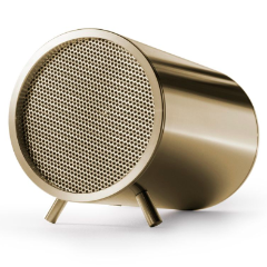 The Leff Amsterdam Bluetooth audio speaker in brass.