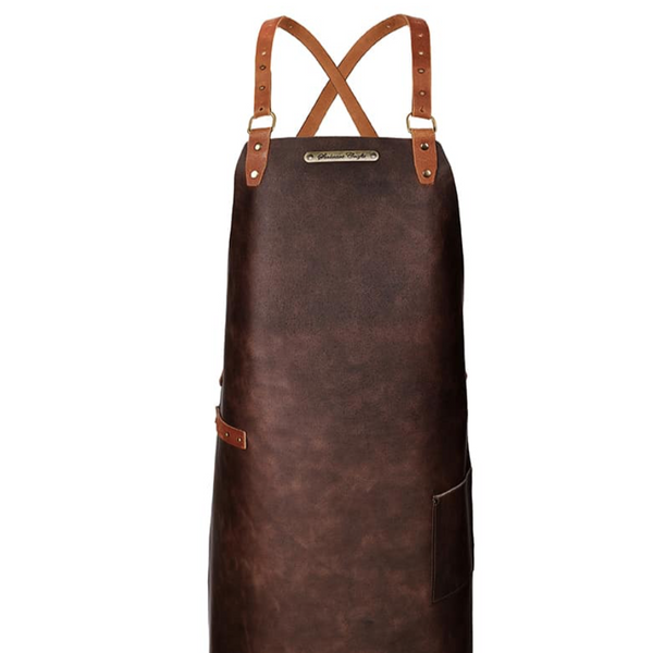 LARGE LEATHER APRON WITH BACK-STRAP
