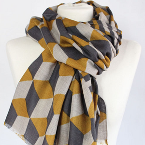 "100% WOOL SCARF - ""THE BLOCK"" - Uniek Living"