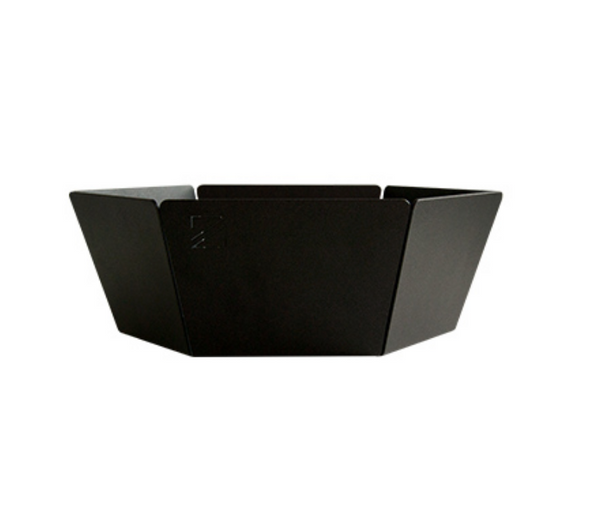 A black fruit bowl Jut by ZOOI against a white background.