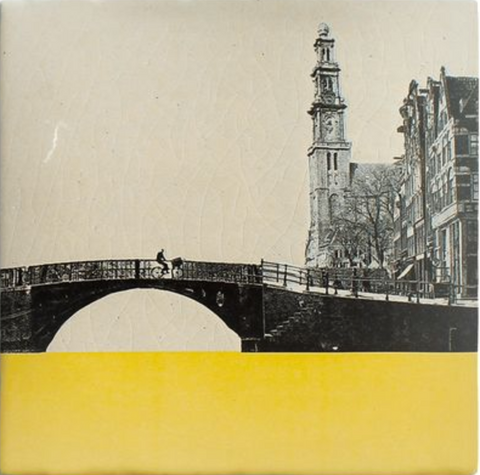 The Amsterdam art tile by Story Tiles.