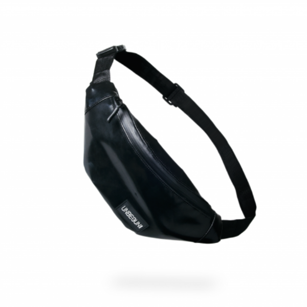 The Unbegun fanny pack in black.