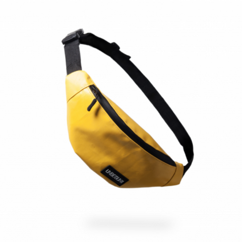 The Unbegun fanny pack in yellow.