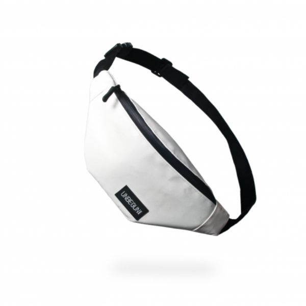 The Unbegun fanny pack in white.