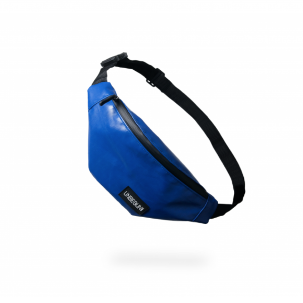 The Unbegun fanny pack in blue.
