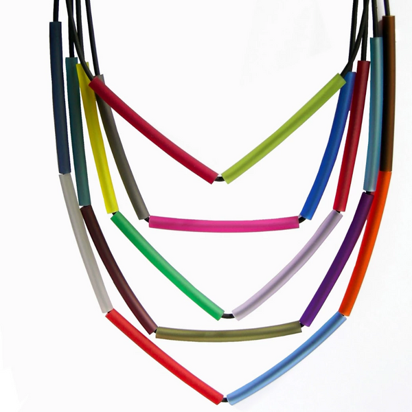 NECKLACE OF 5 LAYER 6 CM TUBES