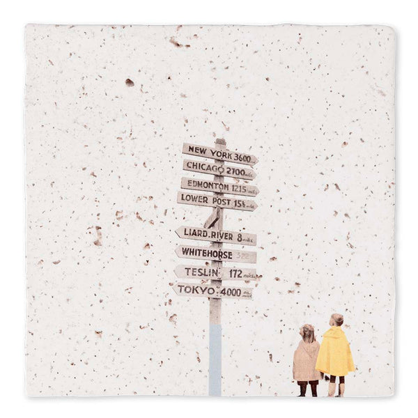 WORLD TRAVELER - ART TILE - Uniek Living