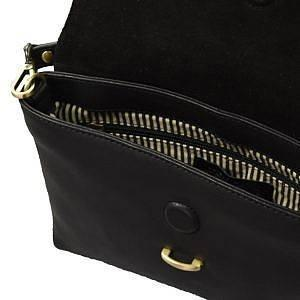 Inside view of the Midnight Black Ella Midi Bag by O My Bag.