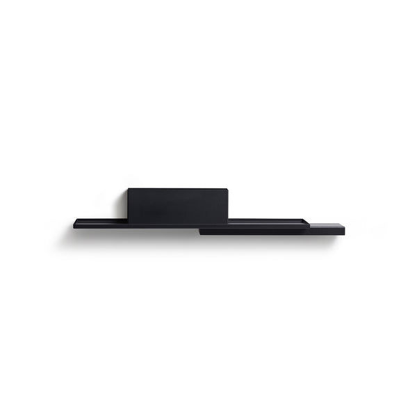 Black Duplex Shelf by Puik against a white background.