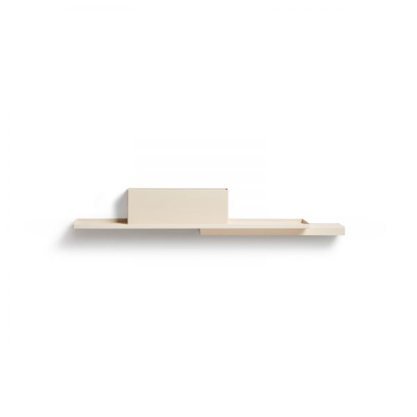 Ivory Duplex Shelf by Puik against a white background.