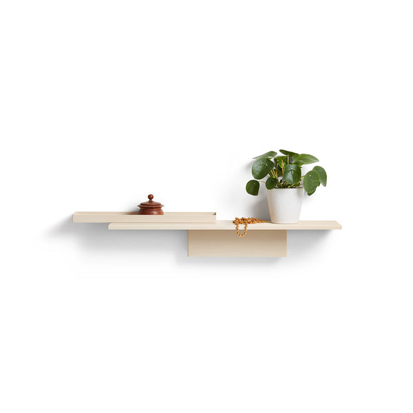 Ivory Duplex Shelf by Puik hanging in reverse.