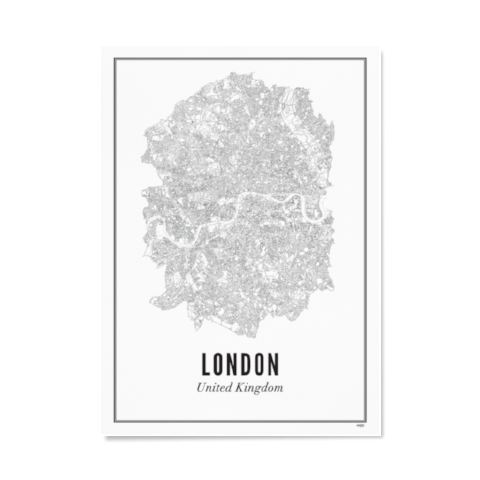 PRINT OF CITY OF LONDON - Uniek Living