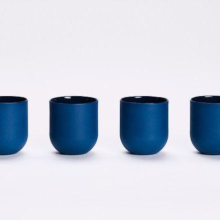 SUM MONO MUGS -  SMOOTH - SET OF 4 - Uniek Living