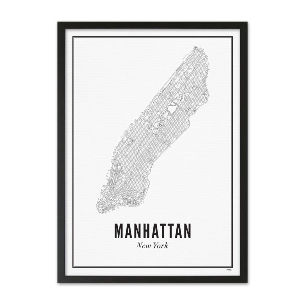 PRINT OF NEW YORK - MANHATTAN - Uniek Living