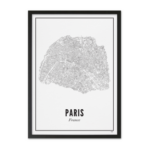 PRINT OF CITY OF PARIS - Uniek Living