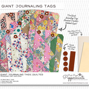 Giant Journaling Tags