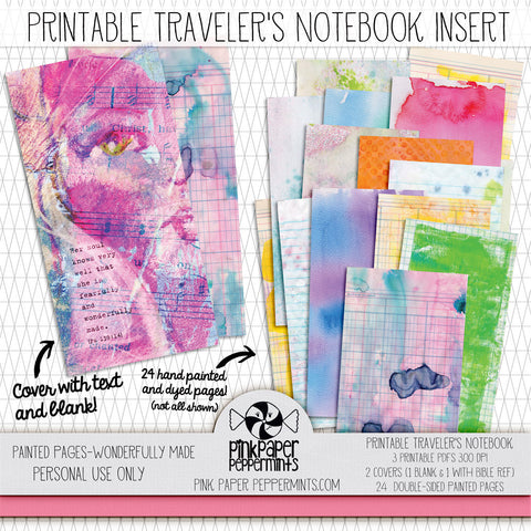 Painted Pages - Wonderfully Made - Traveler's Notebook Insert