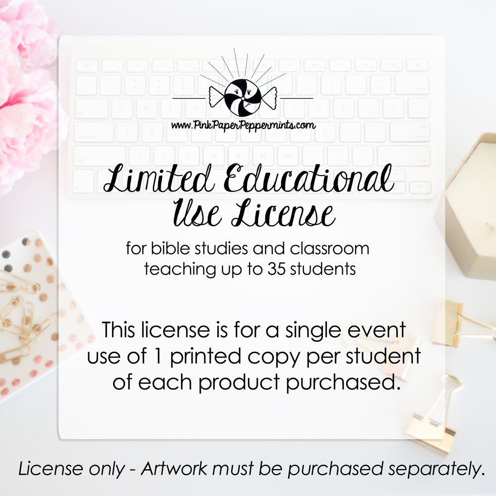 Limited Educational Use License - Purchase One Per Event - Pink Paper Peppermints