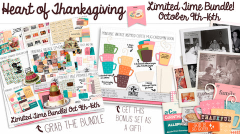 Made with Love  Bundle! - Printable Vintage Kitchen Junk Journal Kit - For Faith-Based Art Journal, Bible Journaling or Prayer Journal