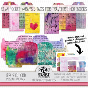 Painted Pages - Page Wraps - Pockets & Tags