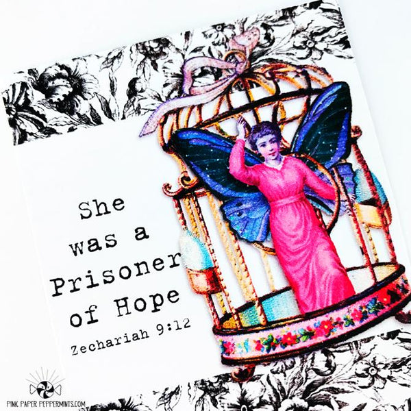 Prisoner of Hope - Printable Journaling Cards - Pink Paper Peppermints