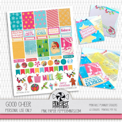 Good Cheer - Printable Planner Stickers