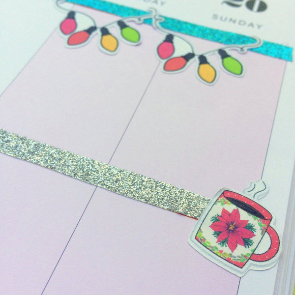 Good Cheer - Printable Planner Stickers - Pink Paper Peppermints