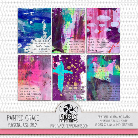Painted Pages - Painted Grace Journaling Cards