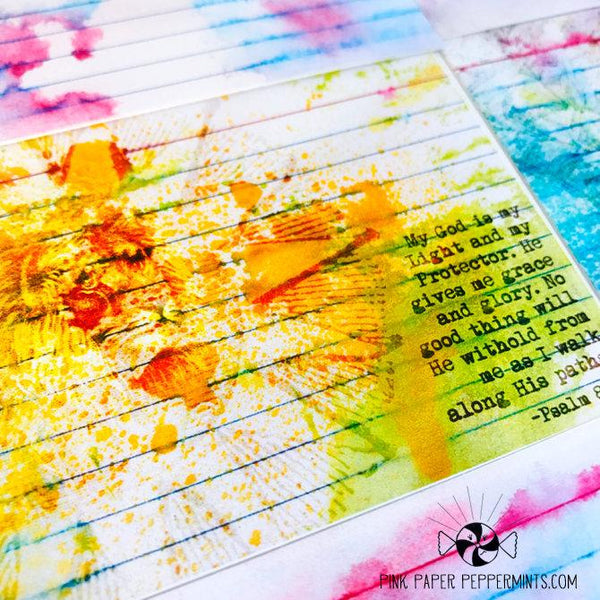 Color Notes - His Goodness - 18 prinable 3 x 5 mixed media index cards