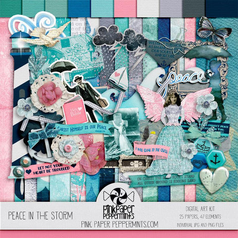Peace in the Storm - Digital Scrapbooking Kit