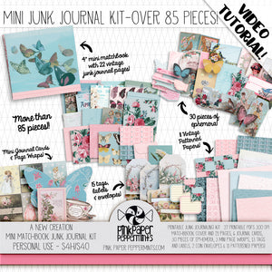 A New Creation - Spring Junk Journal Kit - Make a Mini Matchbook Journal for faith journaling, bible journaling and prayer journals