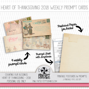 Heart of Thanksgiving 18 - Weekly Prompt Cards and Scripture Sheet