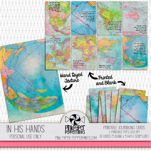 Painted Pages - In His Hands Journaling Cards - Pink Paper Peppermints