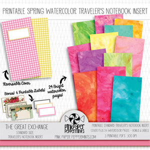 Oh Happy Day! - Standard Traveler's Notebook Insert - Vintage Easter Journal - Pink Paper Peppermints