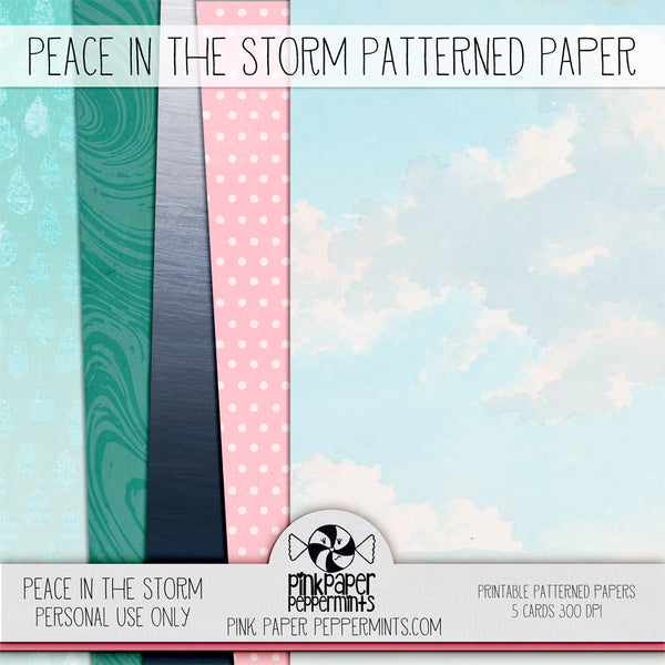 Peace in the Storm - Printable Junk Journal Kit