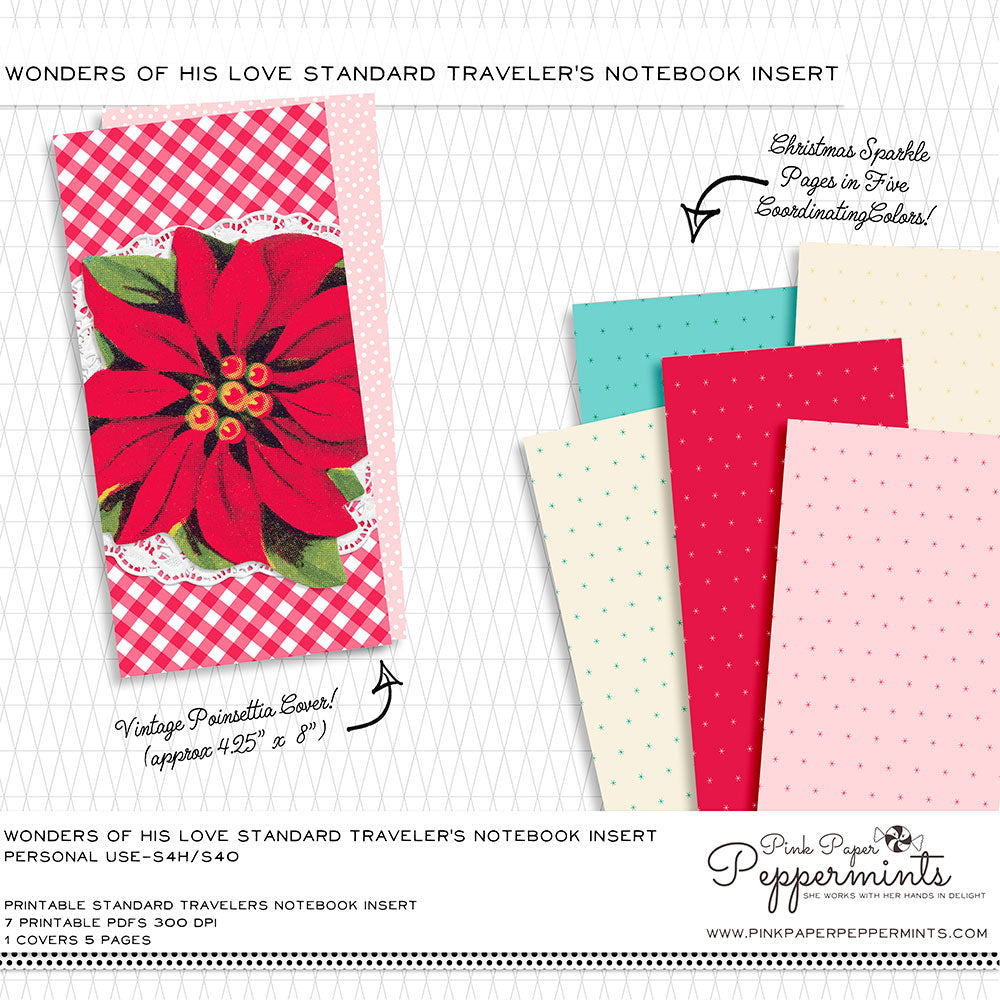Red and green Christmas Kit for your diary and traveler/'s Notebook