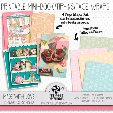 Made with Love - Printable Vintage Tip-ins - For Junk Journals, Faith Journals, Bible Journaling or Scrapbooking