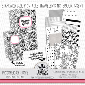 Prisoner of Hope - Standard Size Printable Traveler's Notebook Insert