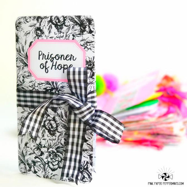 Prisoner of Hope - Standard Size Printable Traveler's Notebook Insert - Pink Paper Peppermints