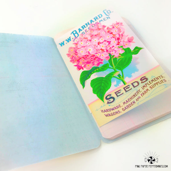 A Well Watered Garden - Page Wraps -Vintage Garden Traveler's Notebook Insert Tip-ins - Mini Books for Bible Journaling, Faith Art, Prayer Journals and Junk Journals