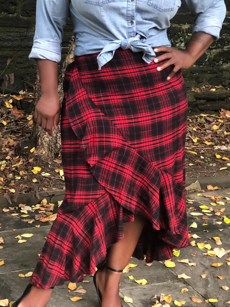 BNB Curves LumberJane Skirt - BellaNOR Boutique