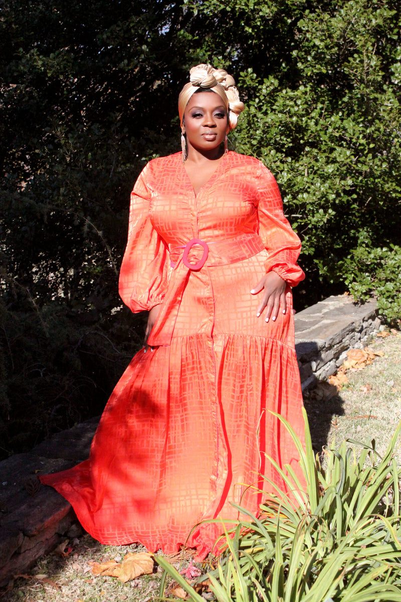 BNB Curves Orange Crush Maxi - BellaNOR Boutique